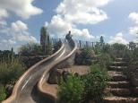 Slide at El Charco botanical garden
