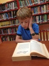Ethan at the biblioteca